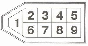 Условная нумерация штекеров в колодке маршрутного компьютера ваз 21093 Адреса выводных штекеров маршрутного...
