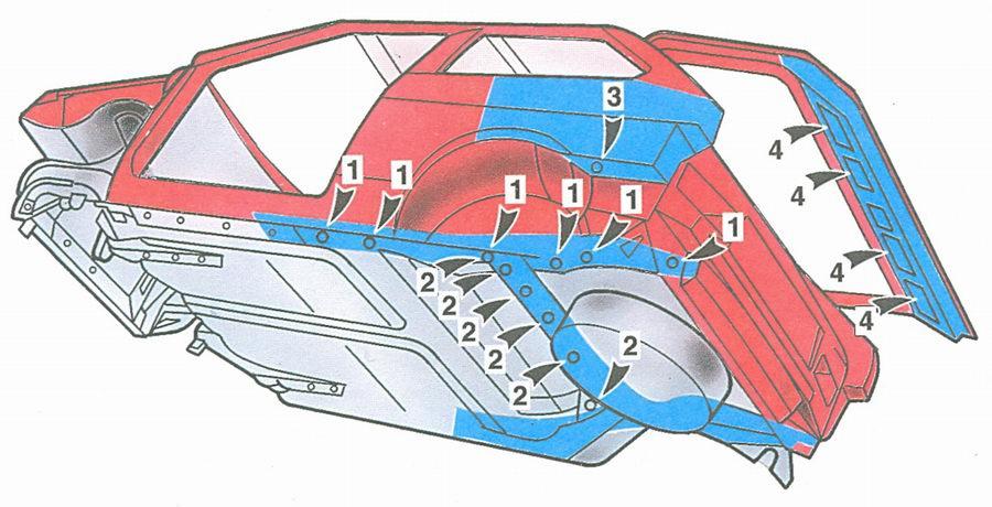 Схема установки автомобильного сабвуфера.